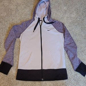 Nike Therma-Fit Purple Zip Up Sweater Size Small